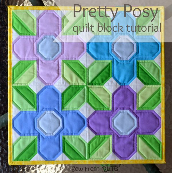 Pretty Posy FREE Quilt Block Tutorial