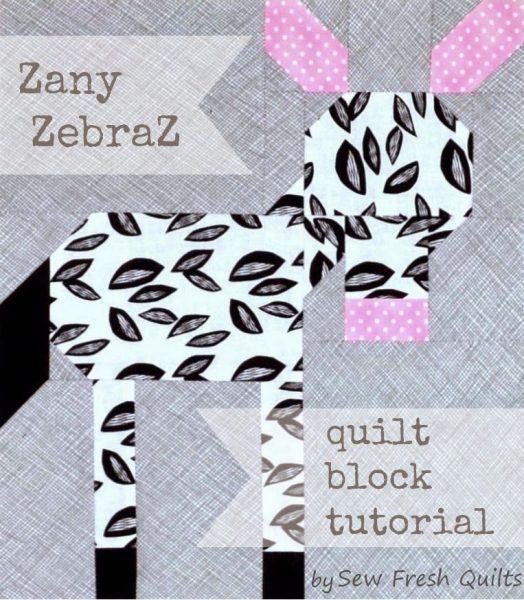 Zany ZebraZ quilt block tutorial