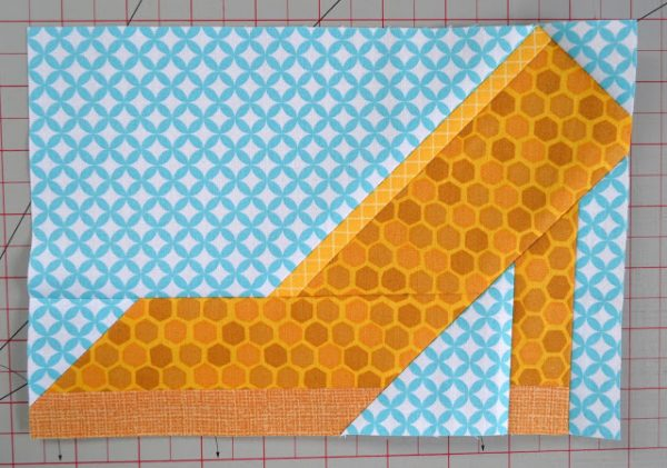 High Heel Shoe quilt block tutorial