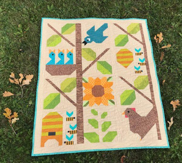 Farm Fresh baby quilt finish
