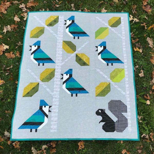 Winter Birds twin baby quilts