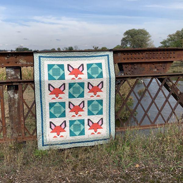Economy Fox Birches quilt finish!